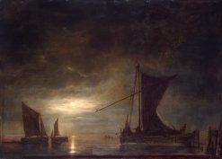 Sea by Moonlight | Aelbert Cuyp | Oil Painting