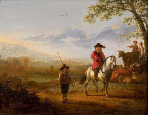 Landscape with Horseman