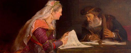 Esther and Mordecai   Aert de Gelder   Oil Painting