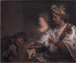 Persian king Ahasuerus gives Mordokai the ring | Aert de Gelder | Oil Painting