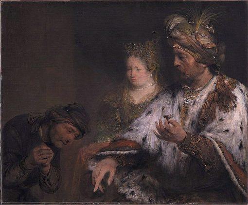 Persian king Ahasuerus gives Mordokai the ring | Aert de Gelder | Oil Painting