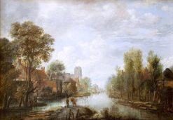 Landscape with Waterway | Aert van der Neer | Oil Painting