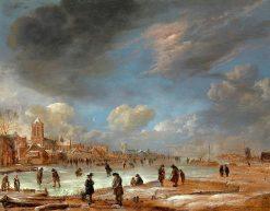 River View in the Winter | Aert van der Neer | Oil Painting