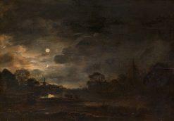 Landscape by Moonlight | Aert van der Neer | Oil Painting