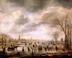 River View in Winter | Aert van der Neer | Oil Painting