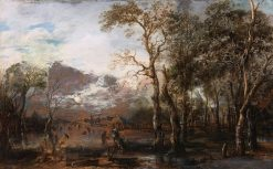 Landscape with Hunter | Aert van der Neer | Oil Painting