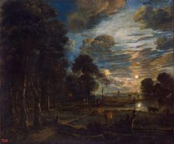 Night Landscape with a River | Aert van der Neer | Oil Painting