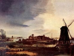 Landscape with a Windmill | Aert van der Neer | Oil Painting