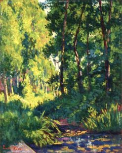 Banks of the River in the Woods | Maximilien Luce | Oil Painting
