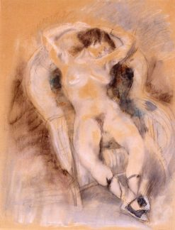 Nude in an Armchair | Jules Pascin | Oil Painting