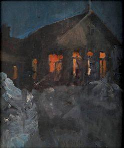 Night scene from Malmi   Akseli Gallen-Kallela   Oil Painting
