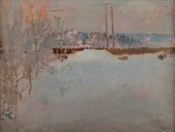 A Foggy Morning at Malmi | Akseli Gallen-Kallela | Oil Painting