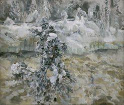 Imatra in wintertime | Akseli Gallen-Kallela | Oil Painting