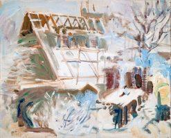 Tarvaspää Atelier Under Construction | Akseli Gallen-Kallela | Oil Painting