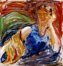 Portrait of Phyllis Sjöström   Akseli Gallen-Kallela   Oil Painting