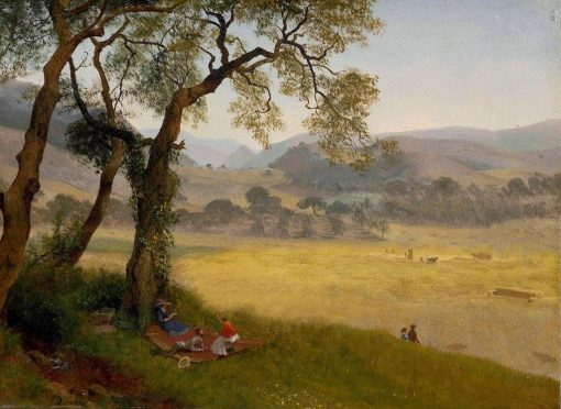 A Golden Summer Day near Oakland | Albert Bierstadt | Oil Painting