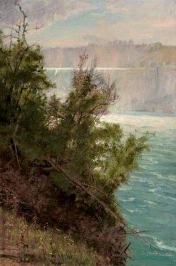 Niagara Falls from the American Side   Albert Bierstadt   Oil Painting