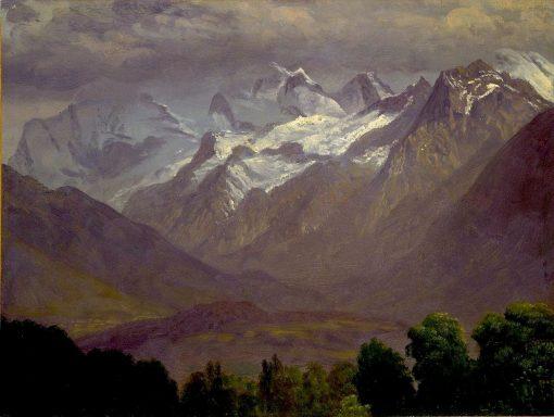 In the High Mountains   Albert Bierstadt   Oil Painting