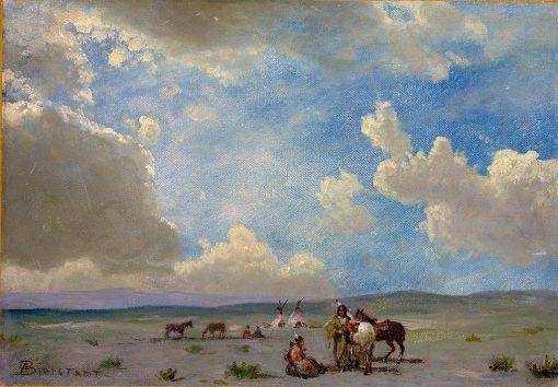 Indian Encampment   Albert Bierstadt   Oil Painting