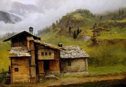 Mountain House | Albert Bierstadt | Oil Painting
