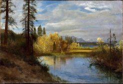 Outlet at Lake Tahoe   Albert Bierstadt   Oil Painting
