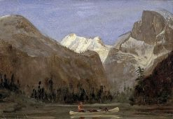 Boating through Yosemite Valley with Half Dome in the Distance | Albert Bierstadt | Oil Painting