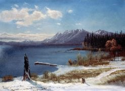 Lake Tahoe in Winter | Albert Bierstadt | Oil Painting