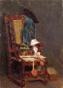 Still Life with an Old Chair | Max Liebermann | Oil Painting