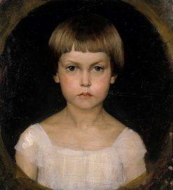Portrait of the Artist´s Sister Berta Edelfelt | Albert Edelfelt | Oil Painting