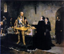 Duke Karl Insulting the Corpse of Klaus Fleming | Albert Edelfelt | Oil Painting