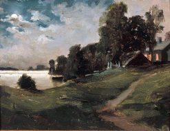 Villa at Haikko in the Moonlight | Albert Edelfelt | Oil Painting