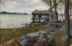 Shed at Haiko | Albert Edelfelt | Oil Painting