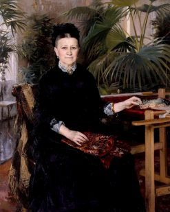 Portrait of Mrs. Anna Sinebrychoff | Albert Edelfelt | Oil Painting