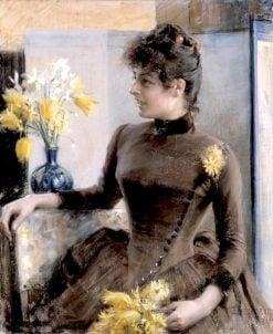 Parisian Woman | Albert Edelfelt | Oil Painting