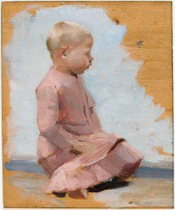 Punamekkoinen lapsi