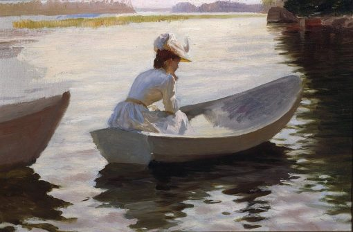 Woman in a Boat | Albert Edelfelt | Oil Painting