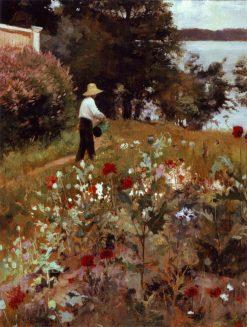 In the Garden at Haikko | Albert Edelfelt | Oil Painting