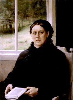 Portrait of the Artist´s Mother Alexandra Edelfelt | Albert Edelfelt | Oil Painting