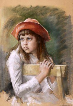 Portrait of the Artist's Sister Berta Edelfelt | Albert Edelfelt | Oil Painting
