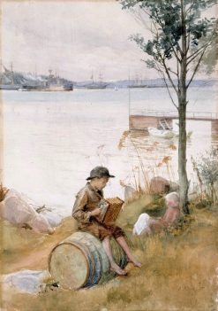 Serenade on the Shore | Albert Edelfelt | Oil Painting