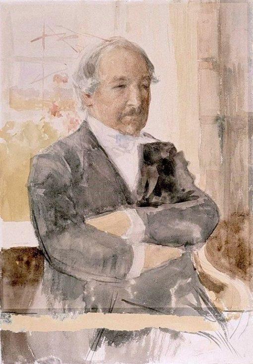 Sketch for the Portrait of Zacharias Topelius | Albert Edelfelt | Oil Painting