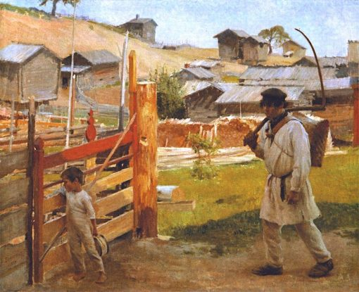 At the Gate (Portaa Village) | Albert Edelfelt | Oil Painting
