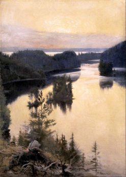 Kaukola Ridge at Sunset | Albert Edelfelt | Oil Painting