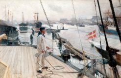 From the port of Copenhagen I | Albert Edelfelt | Oil Painting