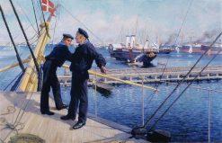 From the port of Copenhagen III | Albert Edelfelt | Oil Painting