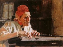 Larin Paraske sings dirges | Albert Edelfelt | Oil Painting