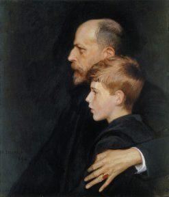 Portrait of Pietro and Mario Krohn | Albert Edelfelt | Oil Painting