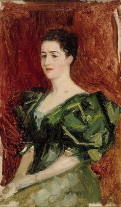 Portrait of Mrs. Dagmar Dippell (compositional sketch) | Albert Edelfelt | Oil Painting
