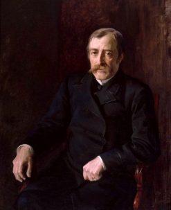 Portrait of Professor Carl Gustaf Estlander | Albert Edelfelt | Oil Painting