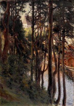 View of Porvoo from Nasinmaki | Albert Edelfelt | Oil Painting